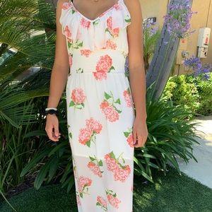 Slit with flower dress